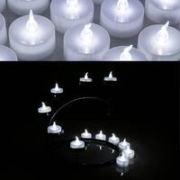 AGPtek- 24 PCS LED Tealights Battery-Operated flameless Candles Lights For Wedding Birthday Party - White