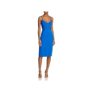 Laundry by Shelli Segal Womens Cocktail Dress Cut Out Crepe