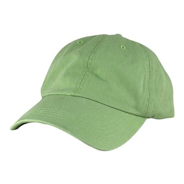 Skateboard Washed Unstructured Dad Cap Adjustable Strapback Hat - Lime Green