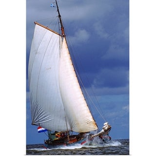 """sailing boat at sea"" Poster Print"