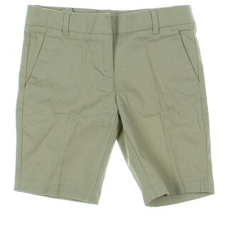 Izod Girls Khaki, Chino Shorts Twill Adjustable Waistband - 6