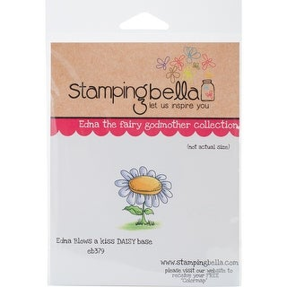 """Stamping Bella Cling Stamp 6.5""""X4.5""""-Daisy Base For Edna Blows A Kiss"""