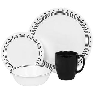 Corelle 1074208 Livingware City Block 16-Piece Dinnerware Set  sc 1 st  Overstock & Corelle Dinnerware | Find Great Kitchen u0026 Dining Deals Shopping at ...