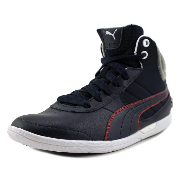 Puma BMW MS Mch Mid Men Round Toe Leather Sneakers