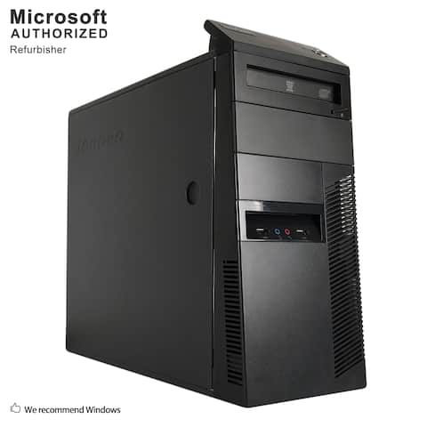 Lenovo ThinkCentre M81 Tower,Intel i5-2400 3.1GHz,16GB DDR3,360GB SSD,DVD,WIFI,BT4.0,HDMI Adapter,W10P64 (EN/ES)-Refurbished
