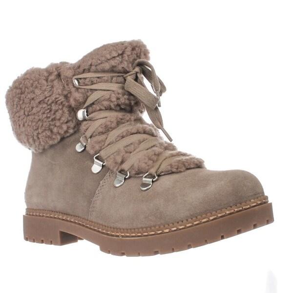I35 Pamelia Faux Fur Combat Boots, Warm Taupe