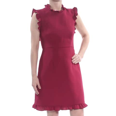 JILL STUART Burgundy Cap Sleeve Knee Length Sheath Dress Size 2