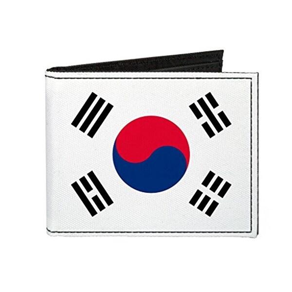 Buckle-Down Canvas Bi-fold Wallet - Republic Of Korea (south Korea) Flag Accessory