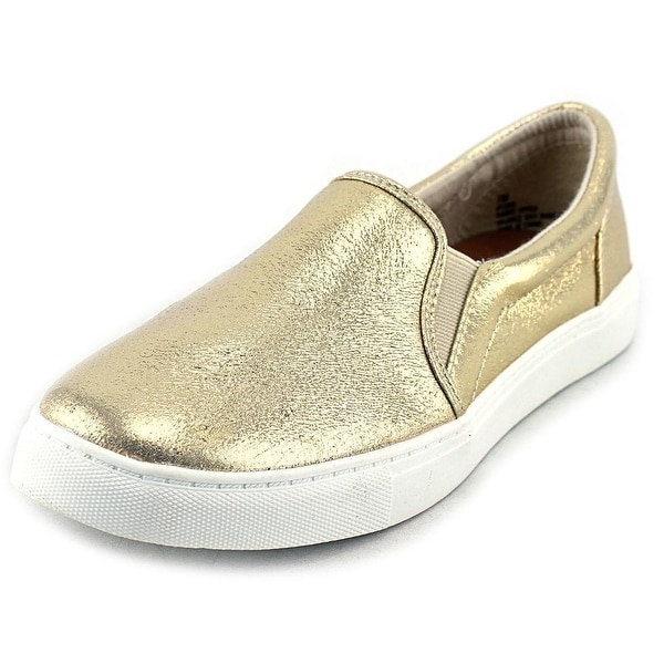 143 Girl Olla Women Round Toe Canvas Gold Loafer