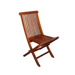 5 Piece Oval Basic Nyatoh Wood and Blue Sunbrella Patio Furniture Set 7.5'