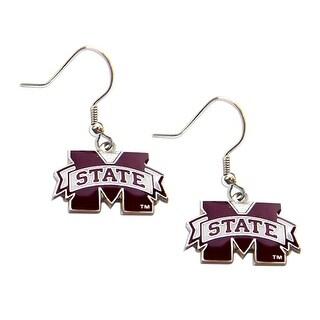 Mississippi State Bulldogs Dangle Logo Earring Set NCAA Charm Gift