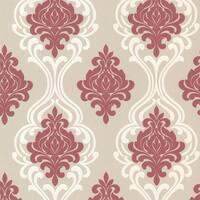 Brewster 2533-20213 Indiana Pink Damask Wallpaper