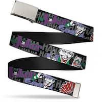 Blank Chrome Buckle The Joker Hahahaha Webbing Web Belt