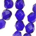 Czech Fire Polished Glass Beads 6mm Round Cobalt Blue (25) - Thumbnail 0