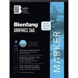 "50 Sheets - Bienfang Graphics 360 Marker Paper Pad 9""X12"""