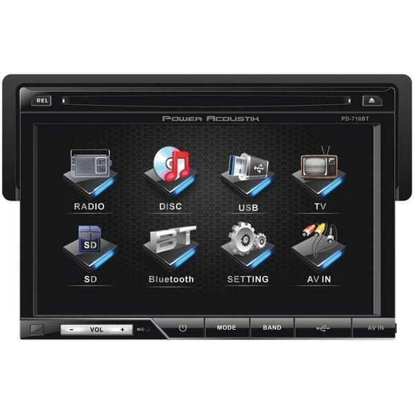 """Power Acoustik Pd-710B 7"""" Single-Din In-Dash Lcd Touchscreen Dvd Receiver (With Bluetooth(R))"""