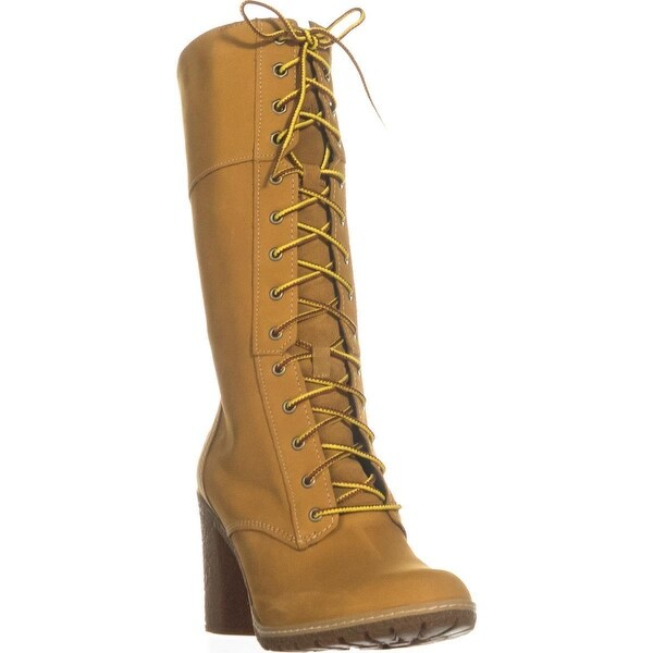 Timberland Glancy Mid-Calf Lace-Up Boots, Wheat
