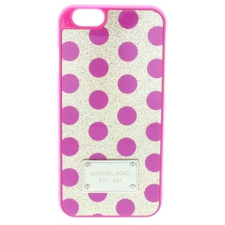 Michael Kors Womens Cell Phone Case Glitter Polka Dot