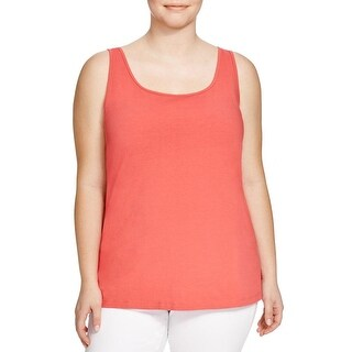 Nic + Zoe Womens Plus Tank Top Sleeveless Scoop Neck