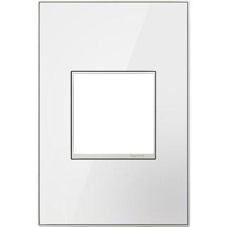 Legrand AWM1G2MW4 adorne 1 Gang Glass Wall Plate - 4.5 Inches Wide