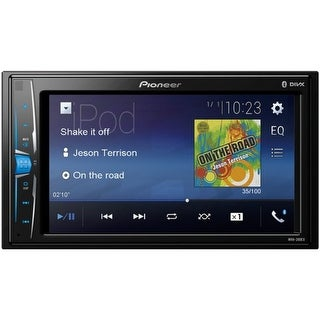 "Pioneer(R) MVH-200EX 6.2"" Double-DIN In-Dash Digital Media & A/V Receiver with Bluetooth(R)"