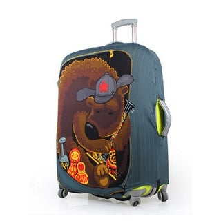 Unique BargainsBear Pattern Washable Elastic Luggage Protective Cover Multicolor 22-26 Inch