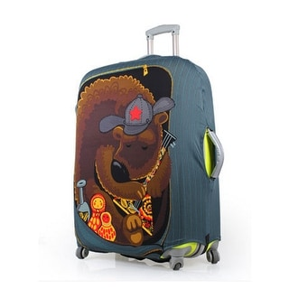 Unique BargainsBear Pattern Washable Elastic Luggage Protective Cover Multicolor 26-30 Inch