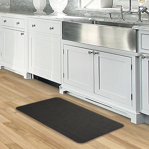 Nautica Texteline Anti-Fatigue Kitchen Mat, Dark Brown