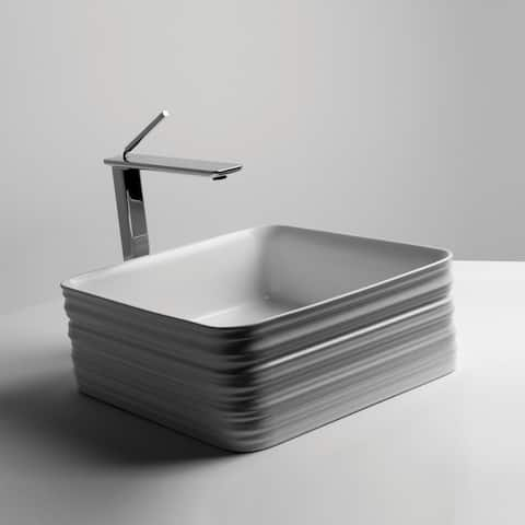 """WS Bath Collections TRL0200 14-9/16"""" Ceramic Vessel Bathroom Sink from - White"""
