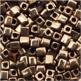Miyuki 4mm Glass Cube Beads 'Metallic Bronze' 457 10 Grams