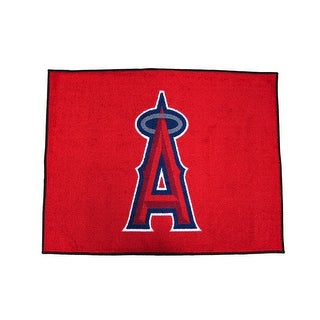 Licensed Los Angeles Angels 34 Inch By 45 Inch Floor Mat - Red