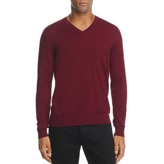 Burberry Men's Randolf Burgundy Cashmere V-neck Sweater (3 options available)