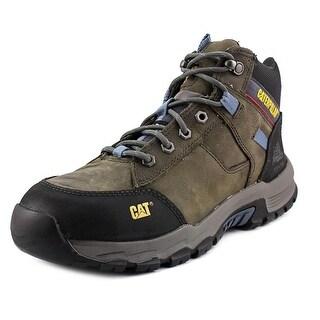 Caterpillar Safeway Mid St Men W Steel Toe Leather Gray Work Shoe