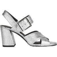 Kenneth Cole New York Women's Lauralynn Strappy Sandal Gunmetal Leather
