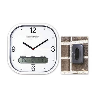 North Point Wall Clock With Indoor And Outdoor Display