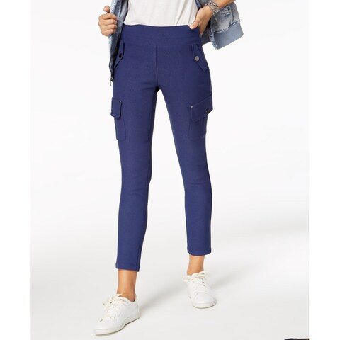 XOXO Navy Blue Womens Size 6 Cropped Stretch Ankle Cargo Pants