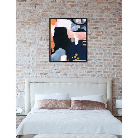 Oliver Gal 'Copper Seas' Abstract Framed Wall Art Print