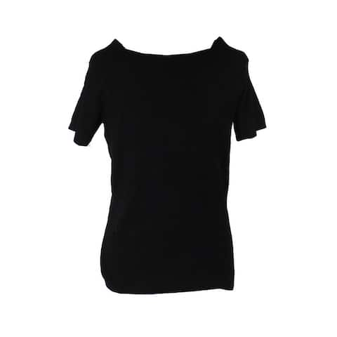 Ny Collection Black Off-The-Shoulder Sweater XS