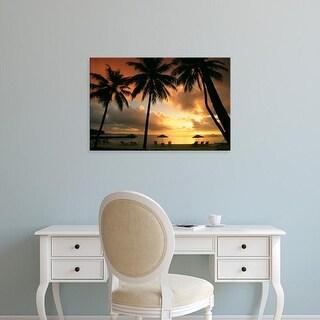 Easy Art Prints Douglas Peebles's 'Sunset Micronesia' Premium Canvas Art
