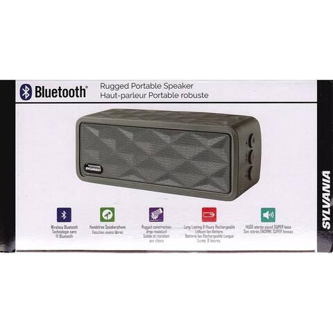 Sylvania SP262-GRAY Rugged Wireless Bluetooth Portable Speaker Manufacturer Refurbished