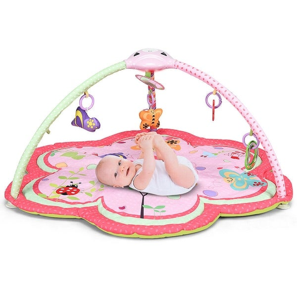 Costway Baby Activity Gym Play Mat w/ Hanging Toys Infant Tummy Time. Opens flyout.