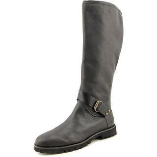 Easy Spirit Batini Women Round Toe Leather Black Knee High Boot