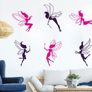"""Butterfly Angel Fairy Girl DIY Wall Sticker Home Decoration 27.5""""x19.6"""""""