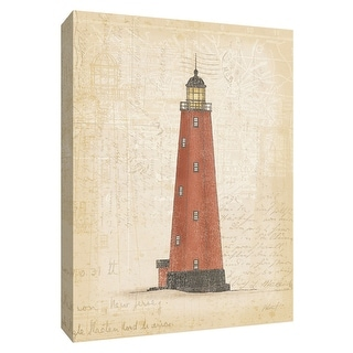 """PTM Images 9-154781  PTM Canvas Collection 10"""" x 8"""" - """"Coastal Light I"""" Giclee Lighthouses Art Print on Canvas"""