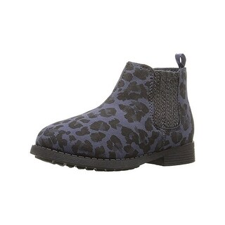 Osh Kosh Girls Eden Chelsea Boots Glitter (Option: 8 medium (b,m) toddler - Navy)