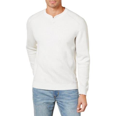 Tommy Bahama Mens Flip Side Sweatshirt Reversible Long Sleeve