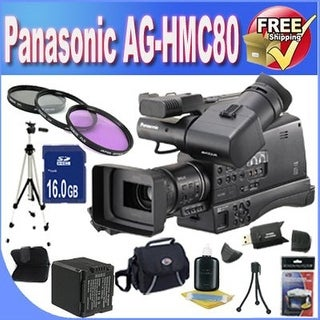 Panasonic AG-HMC80 3MOS AVCCAM HD Shoulder-Mount Camcorder + Extended Life Battery + 16GB SDHC Class 10 Memory Card Bundle!