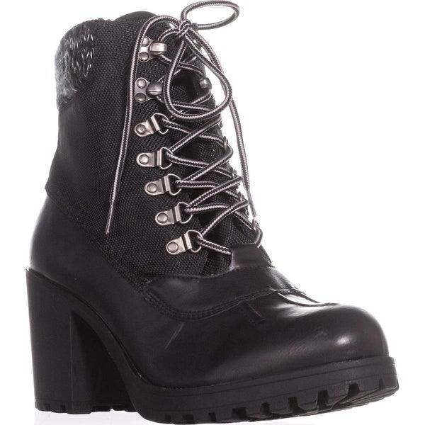 Rock & Candy Mila Lug Sole High Top Ankle Boots, Black