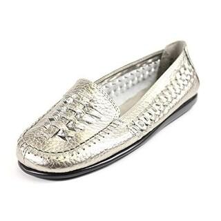 Aerosoles Womens Solo Blast Leather Woven Fashion Loafers