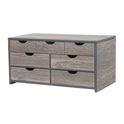 Mele & Co. Coventry Wooden Jewelry Box in Oceanside Grey Finish
